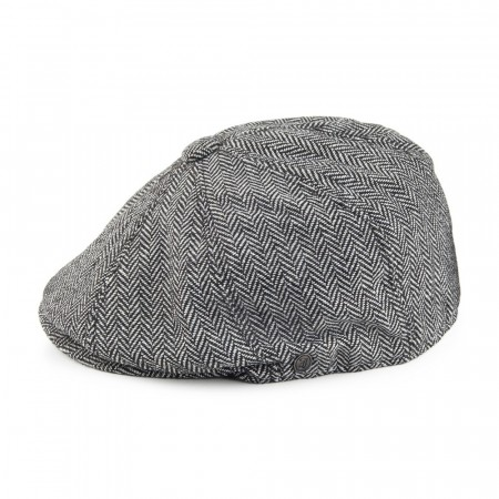 Jaxon & James Herringbone Newsboy Cap Grey