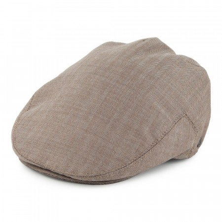 Jaxon & James Chicago Herringbone Flat Cap Bronze